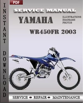 Yamaha WR450FR 2003 manual