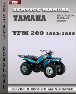 Yamaha YFM 200 1983-1986 manual