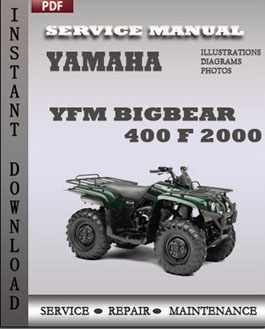 Yamaha YFM Bigbear 400 F 2000 manual