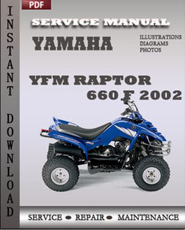 Yamaha YFM Raptor 660 F 2002 manual
