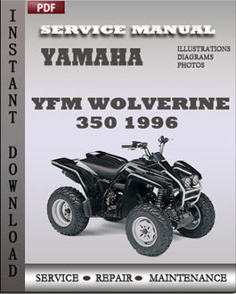Yamaha YFM Wolverine 350 1996 manual