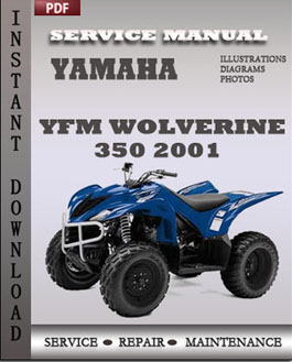 Yamaha YFM Wolverine 350 2001 manual