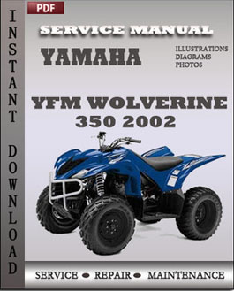 Yamaha YFM Wolverine 350 2002 manual