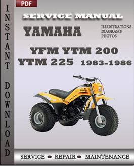 Yamaha YFM YTM 200 YTM 225 1983-1986 manual