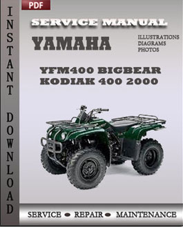 Yamaha YFM400 Bigbear Kodiak 400 2000 manual