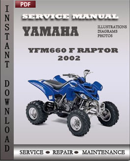 Yamaha YFM660 F Raptor 2002 manual