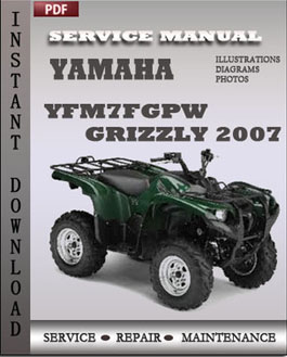 Yamaha YFM7FGPW Grizzly 2007 manual