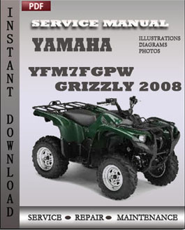 Yamaha YFM7FGPW Grizzly 2008 manual