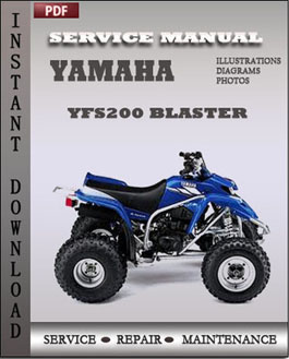 Yamaha YFS200 Blaster manual