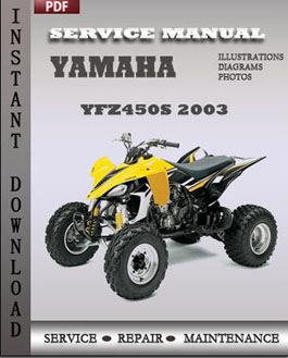Yamaha YFZ450S 2003 manual