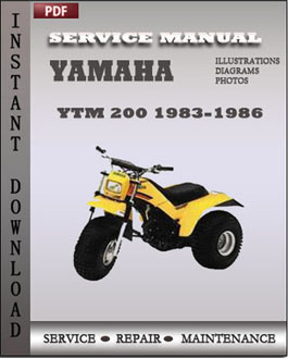 Yamaha YTM 200 1983-1986 manual