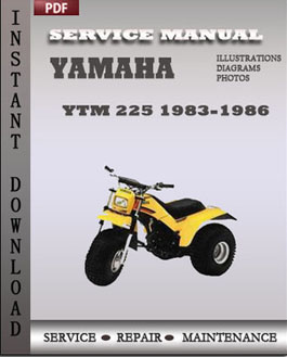 Yamaha YTM 225 1983-1986 manual