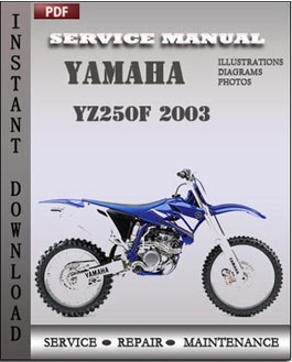 Yamaha YZ250F 2003 manual