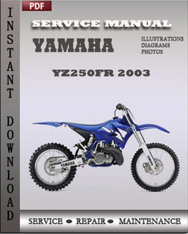 Yamaha YZ250FR 2003 manual