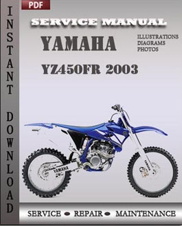 Yamaha YZ450FR 2003 manual
