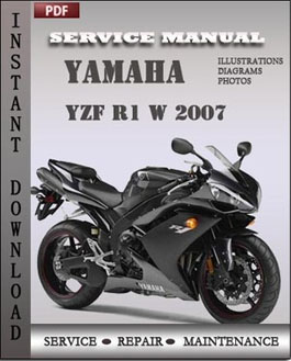 Yamaha YZF R1 W 2007 manual