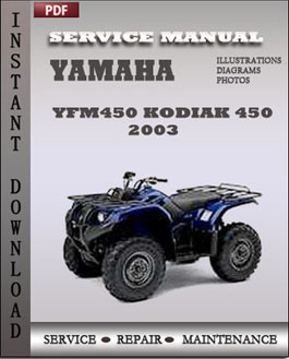 Yamaha Yfm450 Kodiak 450 2003 manual