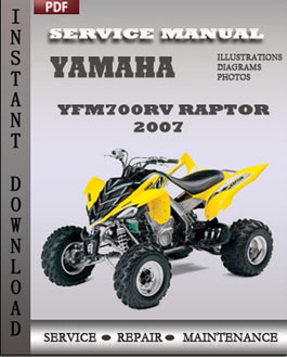 Yamaha Yfm700rv Raptor 2007 manual