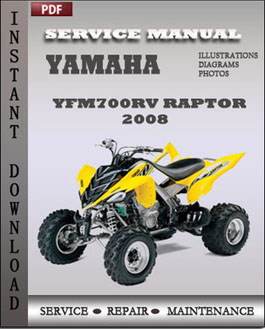 Yamaha Yfm700rv Raptor 2008 manual