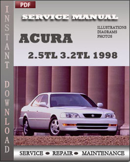 Acura 2.5TL 3.2TL 1998 manual