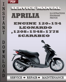 Aprilia Engine 120-154 Leonardo 120s-154s-177s Scarabeo manual