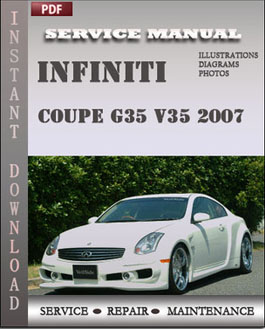 Infiniti Coupe G35 V35 2007 manual