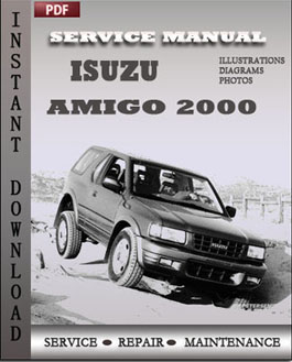 Isuzu Amigo 2000 manual