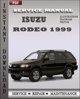 Isuzu Rodeo 1999 manual