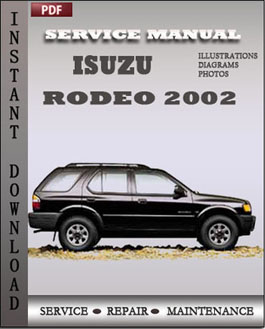 Isuzu Rodeo 2002 manual