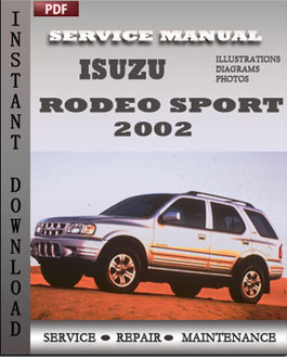 Isuzu Rodeo Sport 2002 manual