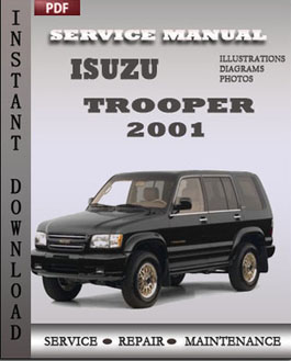 Isuzu Trooper 2001 manual