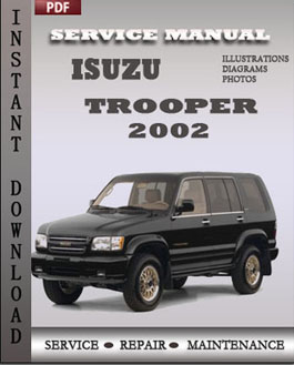 Isuzu Trooper 2002 manual