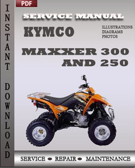 KYMCO Maxxer 300 and 250 manual