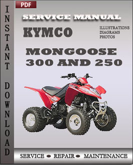 KYMCO Mongoose 300 and 250 manual