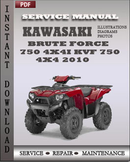 Kawasaki Brute Force 750 4x4i KVF 750 4x4 2010 manual