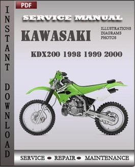 Kawasaki KDX200 1998 1999 2000 manual