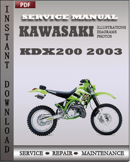 Kawasaki KDX200 2003 manual