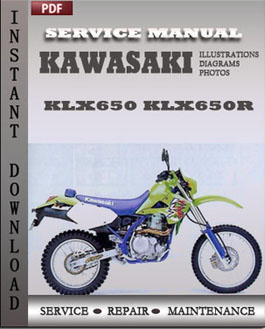 Kawasaki KLX650 KLX650R manual