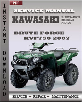 Kawasaki KVF750 Brute Force 2007 manual