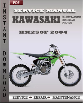 Kawasaki KX250F 2004 manual