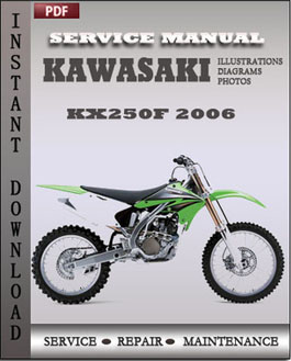 Kawasaki KX250F 2006 manual