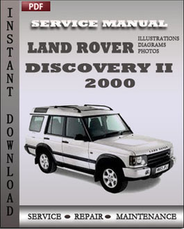 Land Rover Discovery 2 2000 manual
