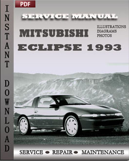 Mitsubishi Eclipse 1993 manual