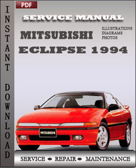 Mitsubishi Eclipse 1994 manual