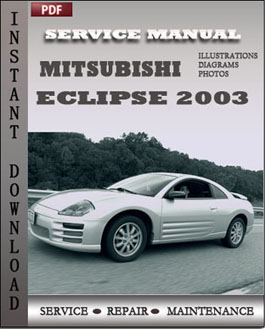 Mitsubishi Eclipse 2003 manual