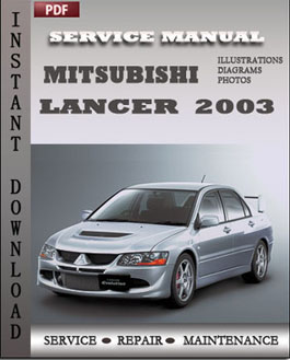 Mitsubishi Lancer Evolution 2003 manual