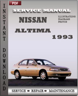 Nissan Altima 1993 manual