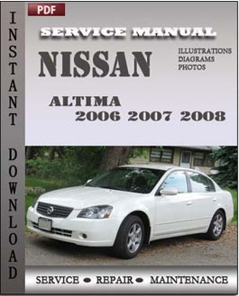 Nissan Altima 2006 2007 2008 manual