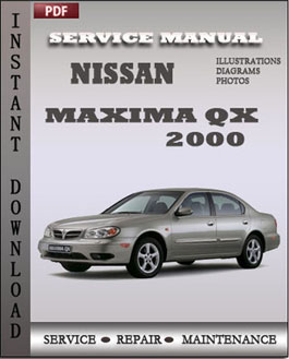 Nissan Maxima QX 2000 manual