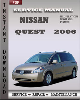 Nissan Quest 2006 manual